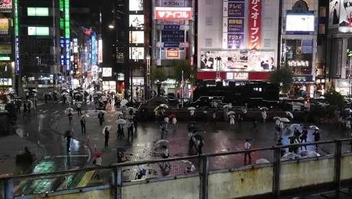 新橋SL広場の雨傘