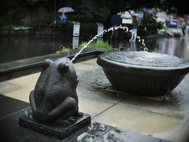 カエルの噴水