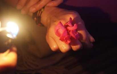 バラの指絵