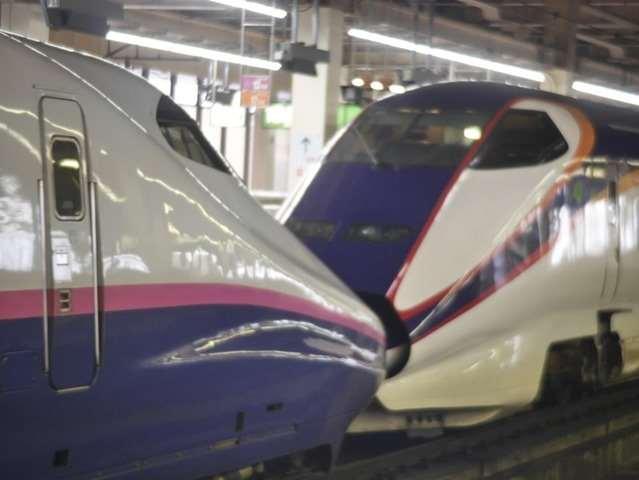 大宮駅で新幹線見学