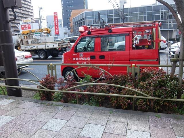 街で見かけたかわいい消防車