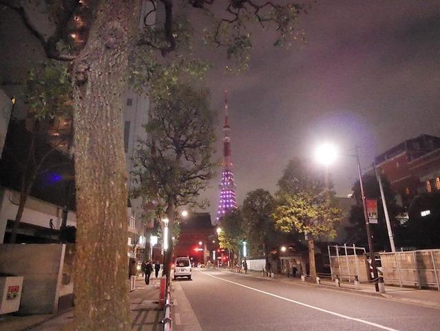 大門から見える東京タワー