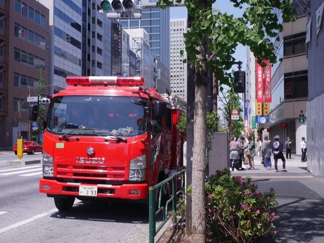 芝消防署消防自動車